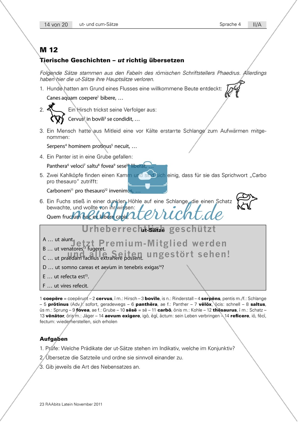cum und ut richtig übersetzen: Übersetzungsübungen und Satzpuzzle ...