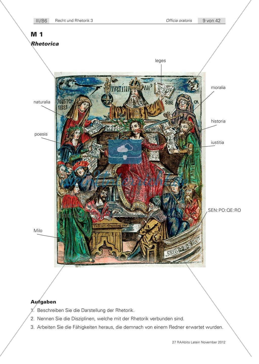 Die Arten der Rede - Einstieg in die Theorie der römischen Rhetorik: Arbeitsblätter und Erläuterungen Preview 0