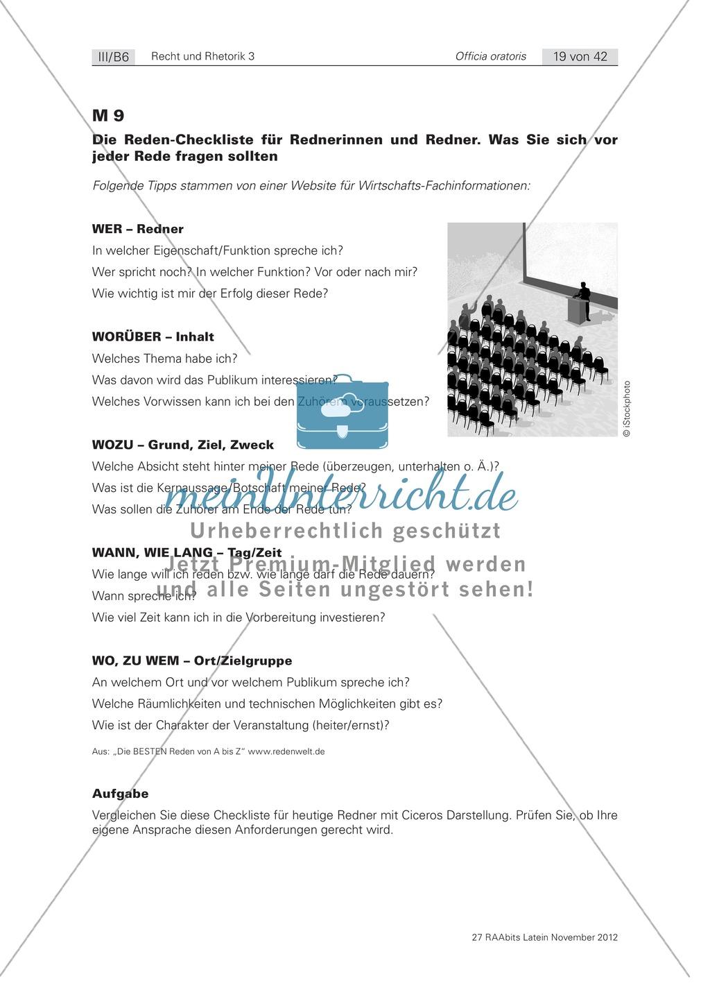 Zum Aufbau von Reden: die 'inventio': Arbeitsblätter und Erläuterungen Preview 1