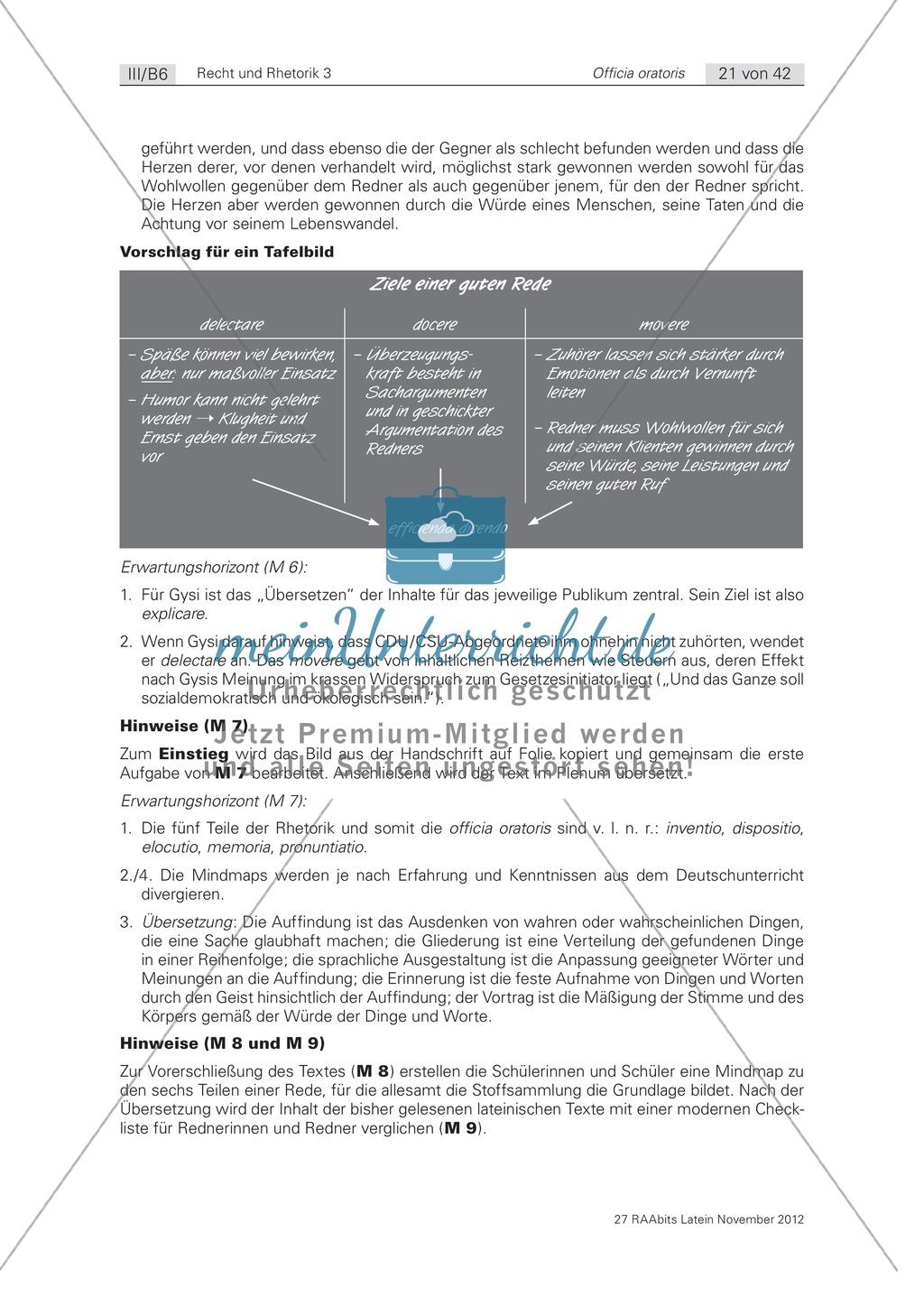 Zum Aufbau von Reden: die 'inventio': Arbeitsblätter und Erläuterungen Preview 2