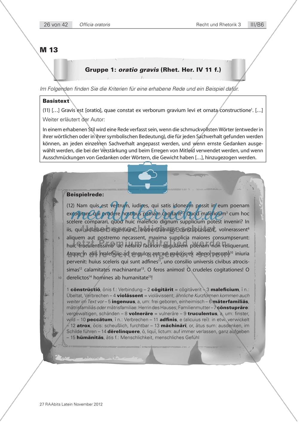 Zum Aufbau von Reden: die 'elocutio': Arbeitsblätter und Erläuterungen Preview 1