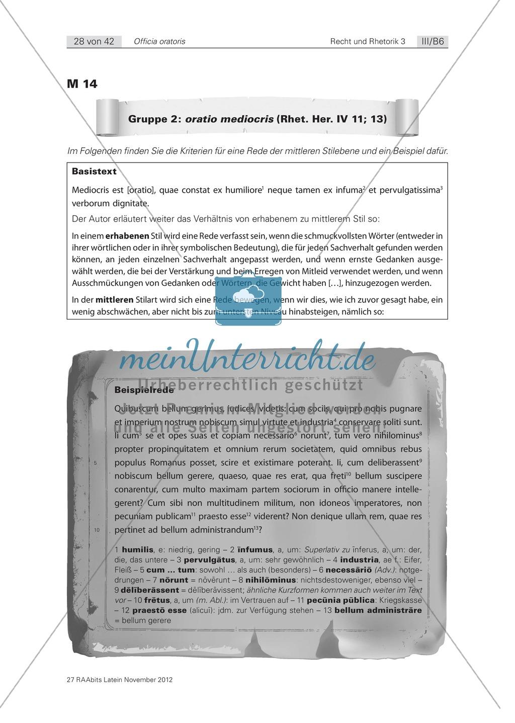 Zum Aufbau von Reden: die 'elocutio': Arbeitsblätter und Erläuterungen Preview 3