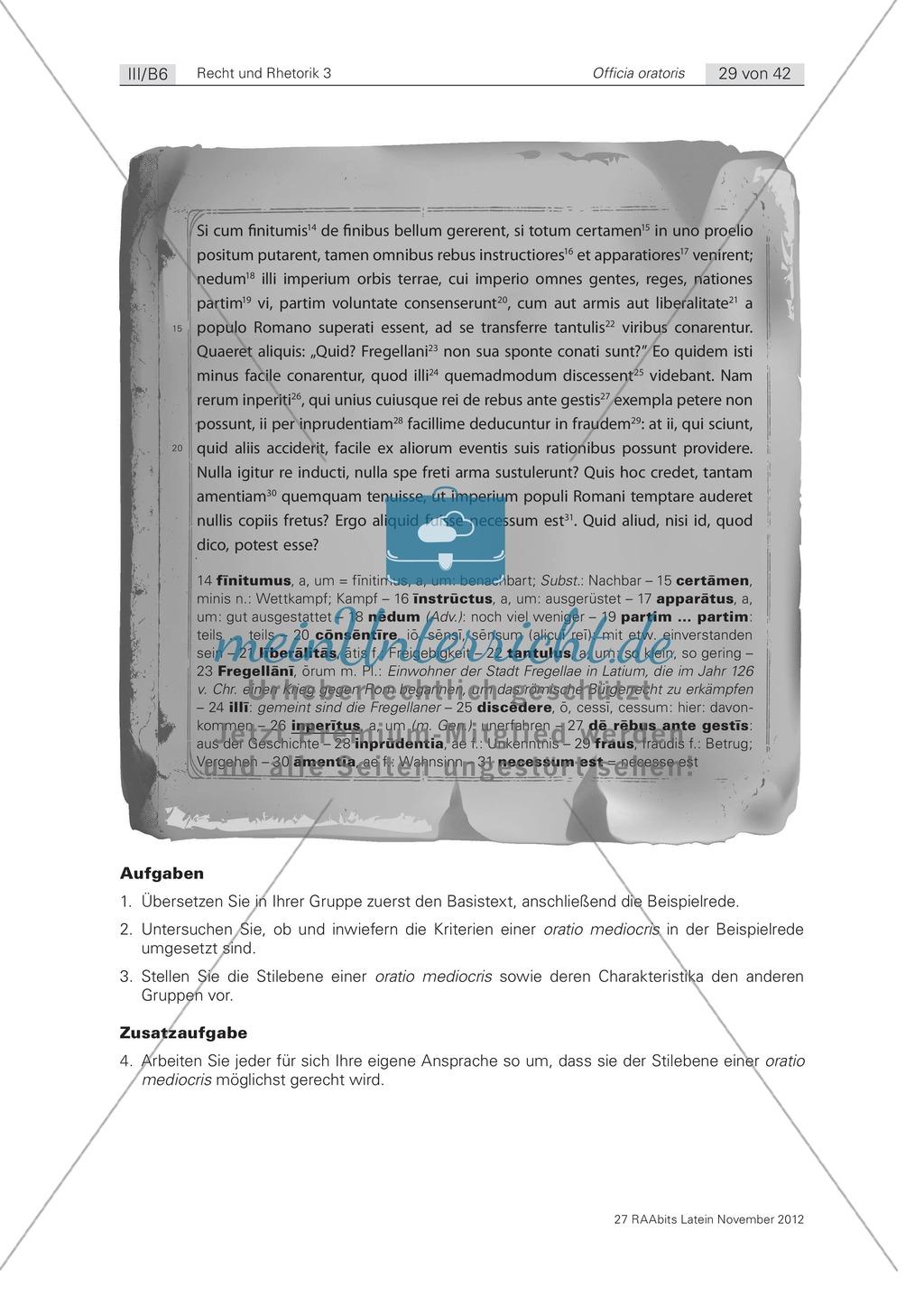 Zum Aufbau von Reden: die 'elocutio': Arbeitsblätter und Erläuterungen Preview 4