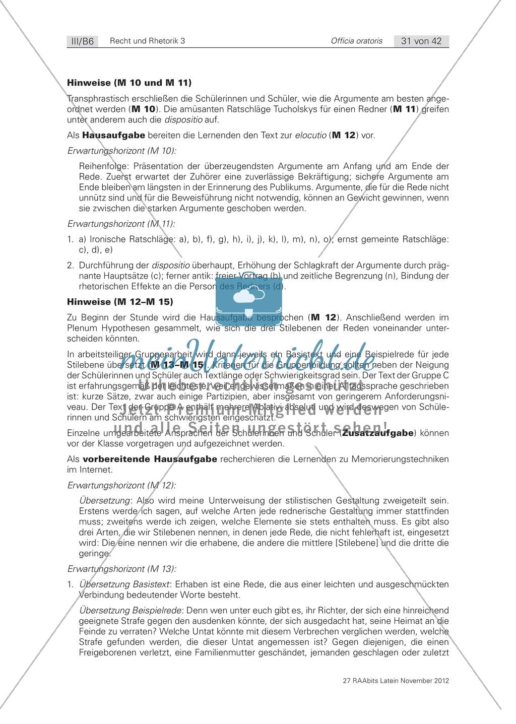 Zum Aufbau von Reden: die 'elocutio': Arbeitsblätter und Erläuterungen Preview 6