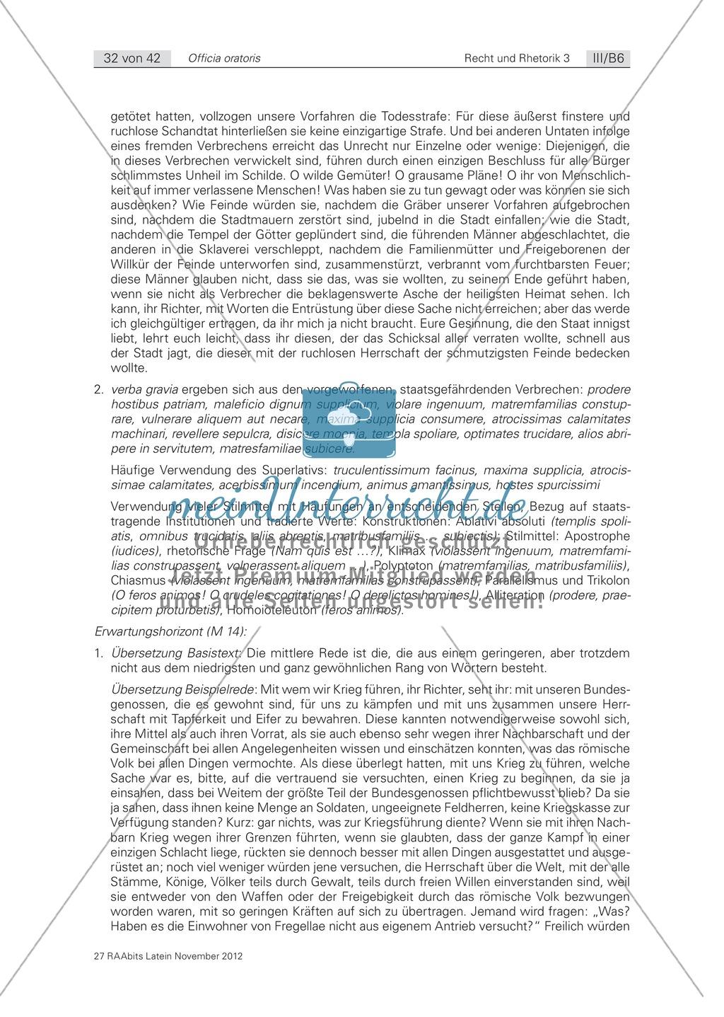 Zum Aufbau von Reden: die 'elocutio': Arbeitsblätter und Erläuterungen Preview 7