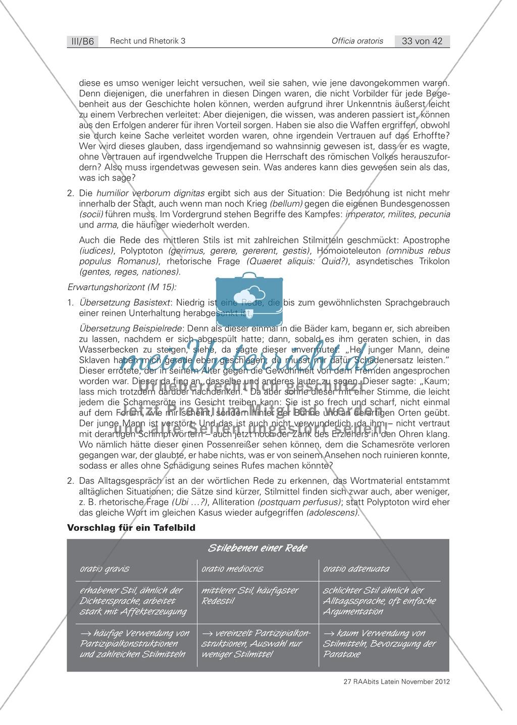 Zum Aufbau von Reden: die 'elocutio': Arbeitsblätter und Erläuterungen Preview 8