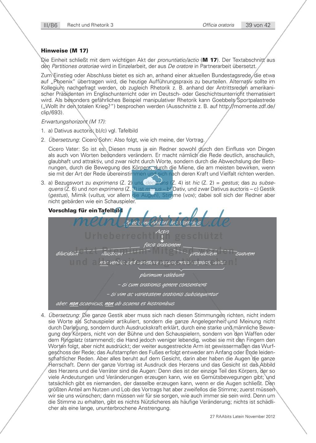 Zum Aufbau von Reden: die 'pronuntiatio/actio': Arbeitsblätter und Erläuterungen Preview 2