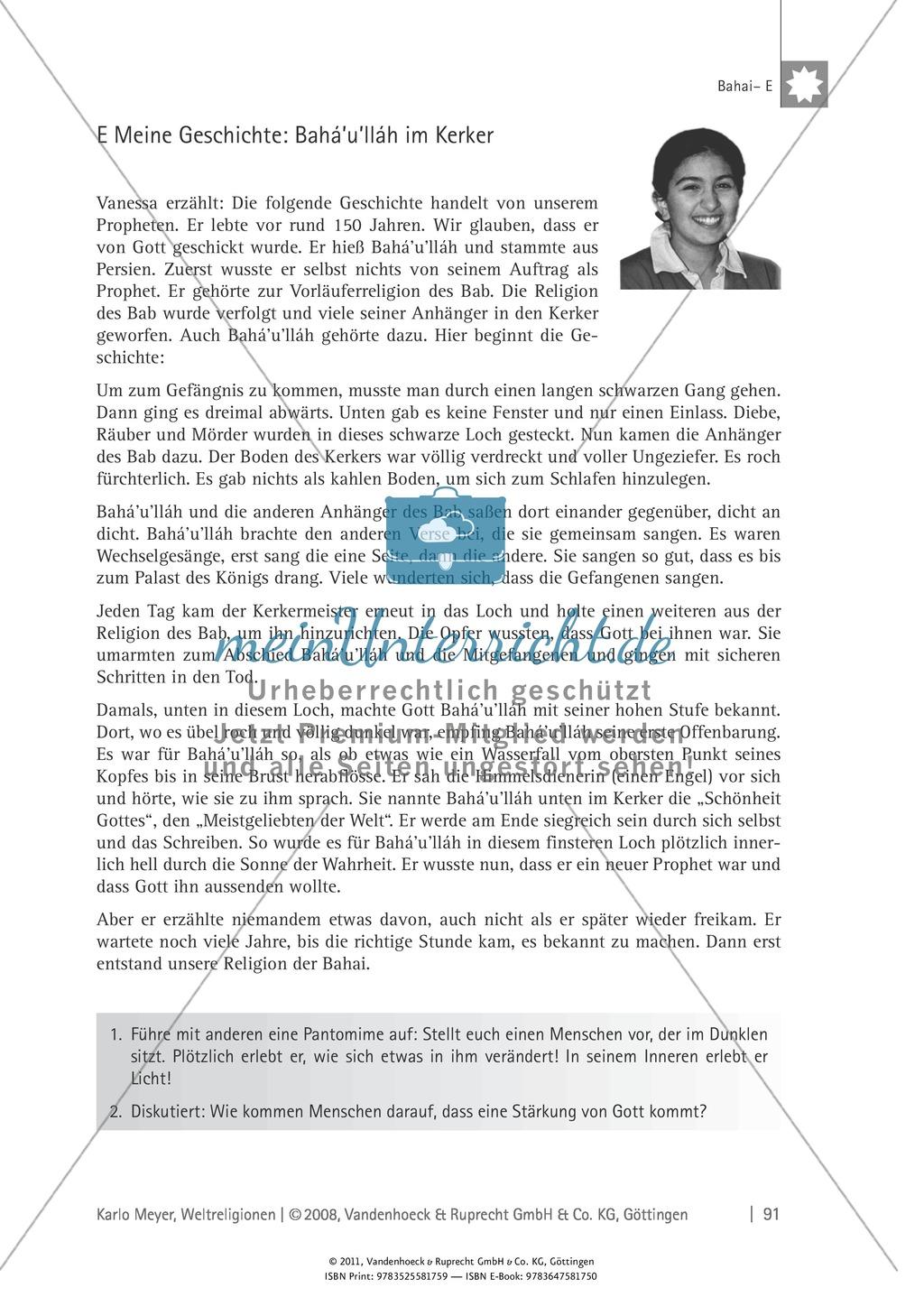 Weltreligionen: Die Lehre des Bahai Preview 10