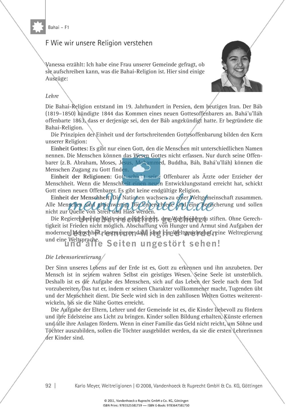 Weltreligionen: Die Lehre des Bahai Preview 11