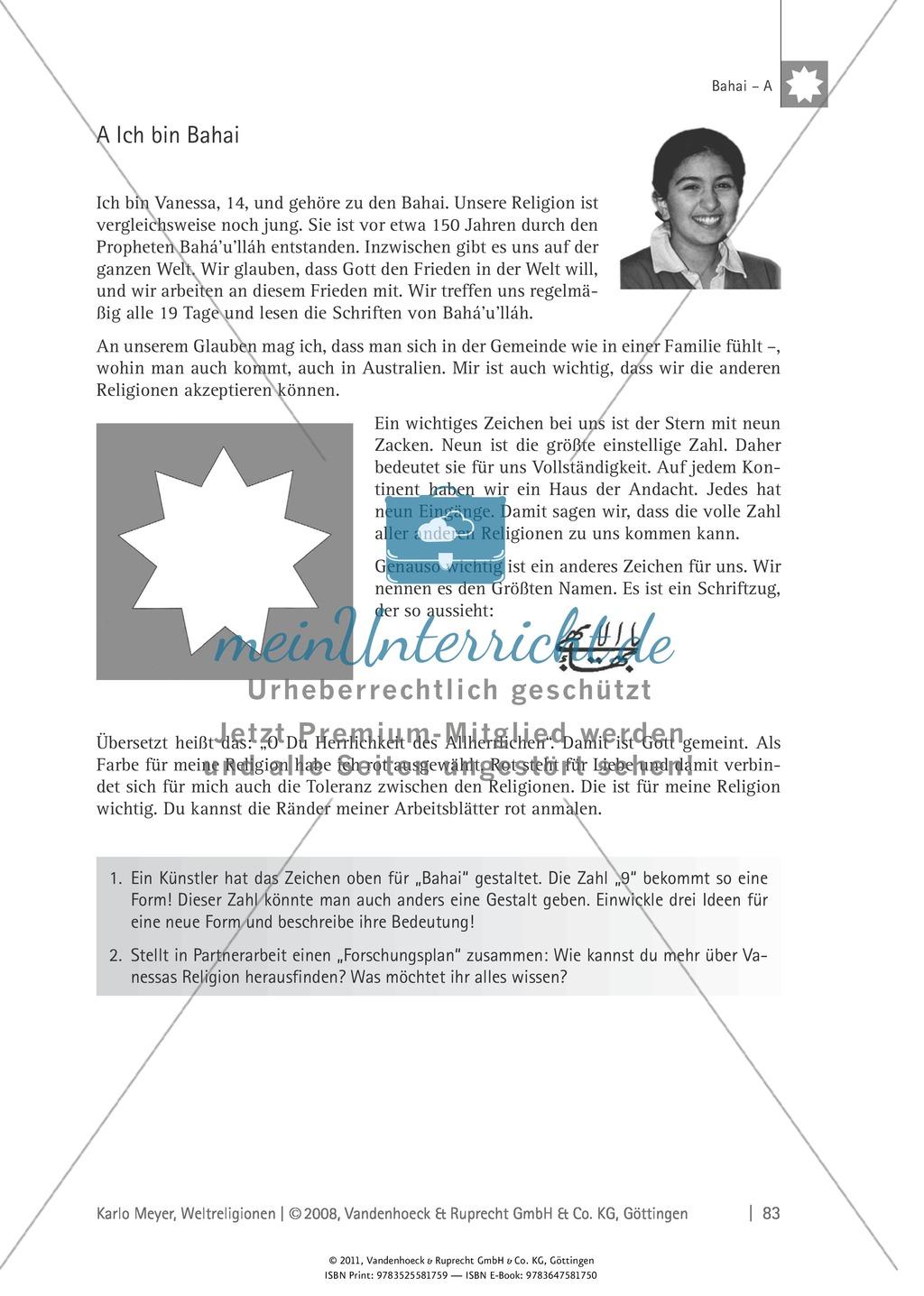 Weltreligionen: Die Lehre des Bahai Preview 2