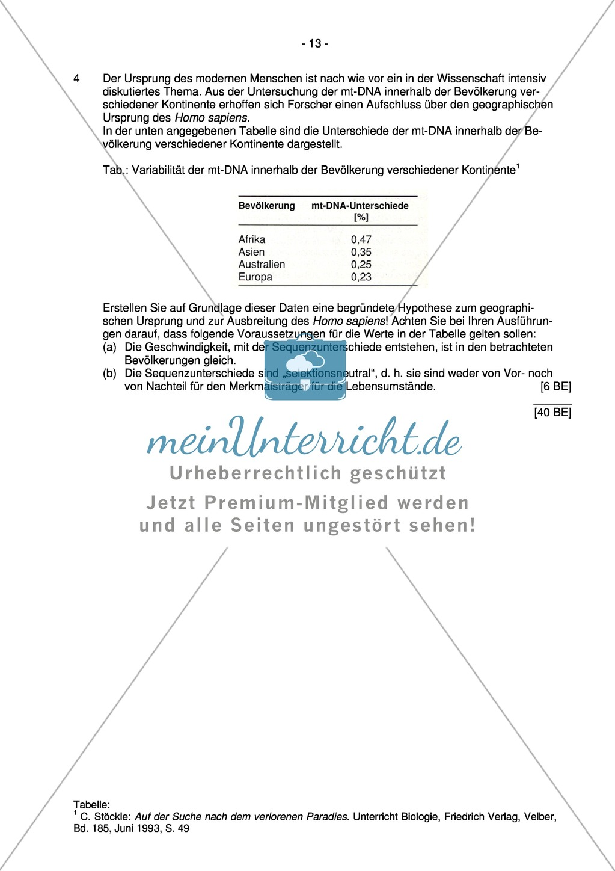 Abituraufgaben Bayern 2011:Erschließen von Mutation und Stammbaum am Beispiel Leigh-Syndrom mit Ablaufschema der PCR und Untersuchung mitochondrialer DNA.Mit Arbeitsmaterial. Preview 2