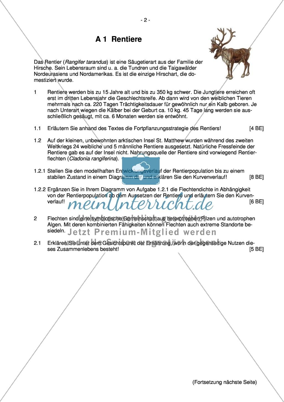 Abituraufgaben Bayern 2012: Aufgaben zu Ökologie, Genetik, Verhalten und Evolution. Mit Arbeitsmaterial. Preview 0