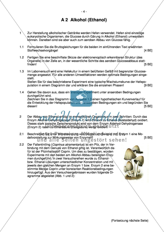Abituraufgaben Bayern 2012: Aufgaben zu Ökologie, Genetik, Verhalten und Evolution. Mit Arbeitsmaterial. Preview 2