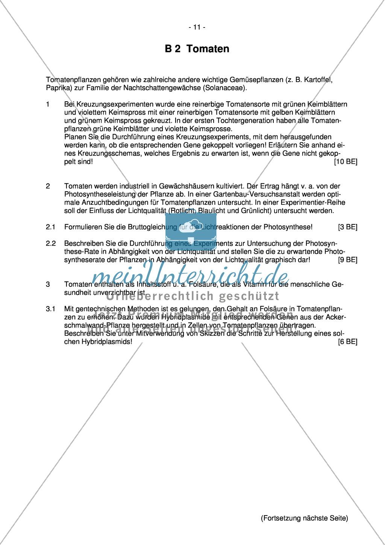 Abituraufgaben Bayern 2013 zu Neurobiologie,Verhalten,Genetik,Physiologie Preview 9