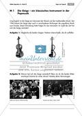 Einsatz und Wirkung der Geige in Klassik und Popmusik. Mit Arbeitsblatt und didaktischen Erläuterungen. Preview 1