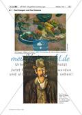 Rezeption: Werke von Paul Gauguin und Paul Cézanne – Bildbetrachtung, Herausarbeiten der Unterschiede Preview 1