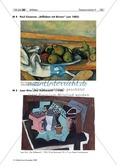 """Kunst, Verfahren und Techniken, Grundlegende Erfahrungsbereiche der Jugendlichen, Künstlerinnen und Künstler, Malen, Zeichnen, Räume und Perspektiven einer veränderten Welterfahrung, Künstler zu """"Räume und Persepektiven einer veränderten Welterfahrung"""", skizzieren, Paul Cézanne, stillleben, Juan Gris"""