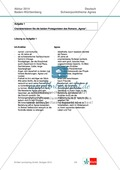 Abituraufgaben Baden-Württemberg 2014: Aufgabe 1 - Charakterisierung der Protagonisten des Romans