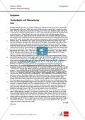 Abituraufgaben Baden-Württemberg 2009: Textaufgaben zu einem Artikel über Immigration in Großbritannien  + Lösungen. Preview 1
