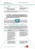 Abituraufgaben Baden-Württemberg 2009: Textaufgaben zu einem Artikel über Immigration in Großbritannien  + Lösungen. Preview 9