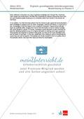 Abituraufgaben Niedersachsen 2010: Musterlösung zu Klausur II mit grundlegendem Anforderungsniveau zu