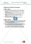 Abituraufgaben Niedersachsen 2012 gA-I: Erschließen von Aspekten regenerativer Energieträger. Mit Arbeitsmaterial und Lösungen. Preview 1