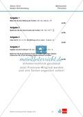 Abituraufgaben Baden-Württemberg 2012 - Mathematik Pflichtteil - 8 Aufgaben und deren Musterlösungen zu den Themen Analysis und Analytische Geometrie Preview 1