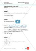 Abituraufgaben Baden-Württemberg 2012 - Mathematik Pflichtteil - 8 Aufgaben und deren Musterlösungen zu den Themen Analysis und Analytische Geometrie Preview 4