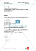 Abituraufgaben Baden-Württemberg 2012 - Mathematik Pflichtteil - 8 Aufgaben und deren Musterlösungen zu den Themen Analysis und Analytische Geometrie Preview 6