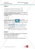 Abituraufgaben Baden-Württemberg 2012 - Mathematik Pflichtteil - 8 Aufgaben und deren Musterlösungen zu den Themen Analysis und Analytische Geometrie Preview 7