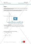 Abituraufgaben Baden-Württemberg 2013 - Mathematik Pflichtteil - 9 Aufgaben und deren Musterlösungen zu den Themen Analysis und Analytische Geometrie Preview 4