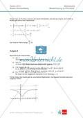 Abituraufgaben Baden-Württemberg 2013 - Mathematik Pflichtteil - 9 Aufgaben und deren Musterlösungen zu den Themen Analysis und Analytische Geometrie Preview 5