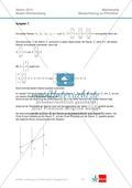 Abituraufgaben Baden-Württemberg 2013 - Mathematik Pflichtteil - 9 Aufgaben und deren Musterlösungen zu den Themen Analysis und Analytische Geometrie Preview 7