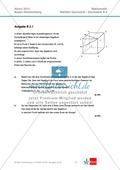 Abituraufgaben Baden-Württemberg 2013 - Mathematik Wahlteil II - 4 Aufgaben und deren Musterlösungen zu den Themen Geometrie und Stochastik Preview 1