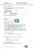 Abituraufgaben Baden-Württemberg 2009 - Mathematik Wahlteil I - 4 Aufgaben und deren Musterlösungen zum Thema Analysis. Preview 6