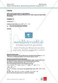 Abituraufgaben Baden-Württemberg 2011 - Mathematik Wahlteil III - 3 Aufgaben und deren Musterlösungen zum Thema Analysis. Preview 2