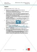 Abituraufgaben Niedersachsen 2011 - Mathematikaufgaben (1B) und deren Musterlösungen zum Thema Analysis auf erhöhtem Niveau. Preview 1