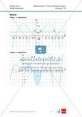 Abituraufgaben Niedersachsen 2011 - Mathematikaufgaben (1B) und deren Musterlösungen zum Thema Analysis auf erhöhtem Niveau. Preview 2