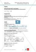Abituraufgaben Niedersachsen 2011 - Mathematikaufgaben (1B) und deren Musterlösungen zum Thema Analysis auf erhöhtem Niveau. Preview 3