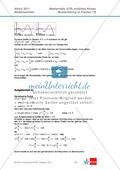 Abituraufgaben Niedersachsen 2011 - Mathematikaufgaben (1B) und deren Musterlösungen zum Thema Analysis auf erhöhtem Niveau. Preview 4
