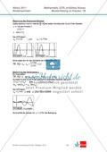 Abituraufgaben Niedersachsen 2011 - Mathematikaufgaben (1B) und deren Musterlösungen zum Thema Analysis auf erhöhtem Niveau. Preview 5