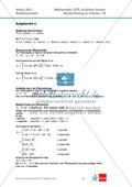 Abituraufgaben Niedersachsen 2011 - Mathematikaufgaben (1B) und deren Musterlösungen zum Thema Analysis auf erhöhtem Niveau. Preview 6