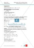 Abituraufgaben Niedersachsen 2011 - Mathematikaufgaben (1B) und deren Musterlösungen zum Thema Analysis auf erhöhtem Niveau. Preview 7