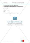 Abituraufgaben Niedersachsen 2011 - Mathematikaufgaben (1B) und deren Musterlösungen zum Thema Analysis auf erhöhtem Niveau. Preview 8