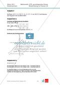 Abituraufgaben Niedersachsen 2011 - Mathematikaufgaben (2A) und deren Musterlösungen zu den Themen Stochastik und Analytische Geometrie auf grundlegendem Niveau. Preview 7