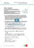 Abituraufgaben Niedersachsen 2012 - Mathematikaufgaben (3A) und deren Musterlösungen zum Thema Geometrie auf erhöhtem Niveau Preview 1