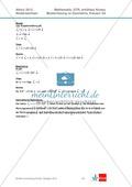 Abituraufgaben Niedersachsen 2012 - Mathematikaufgaben (3A) und deren Musterlösungen zum Thema Geometrie auf erhöhtem Niveau Preview 6