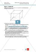 Abituraufgaben Niedersachsen 2012 - Mathematikaufgaben (3B) und deren Musterlösungen zum Thema Geometrie auf erhöhtem Niveau Preview 1