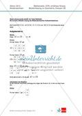 Abituraufgaben Niedersachsen 2012 - Mathematikaufgaben (3B) und deren Musterlösungen zum Thema Geometrie auf erhöhtem Niveau Preview 2