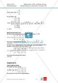 Abituraufgaben Niedersachsen 2012 - Mathematikaufgaben (3B) und deren Musterlösungen zum Thema Geometrie auf erhöhtem Niveau Preview 3